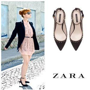FABULOUS!  Zara studded kitten heels in black 40